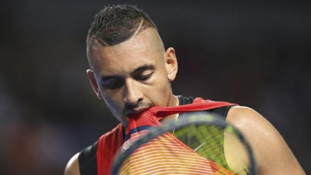 All in all a frustrating evening for Nick Kyrgios. Getty Images.