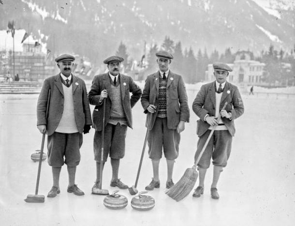 Equipo de Gran Bretaña de Curling. Juegos Olímpicos de Invierno de Chamonix de 1924. PD.