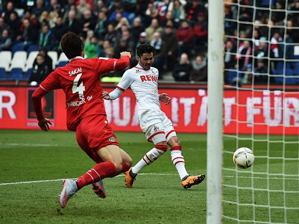 Bittencourt fires into an empty net to open the scoring.   Image source: kicker - Getty Images