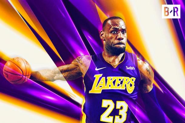 LeBron James has confirmed that he will wear no.23 for the Lakers. Image credit: Bleacher Report.