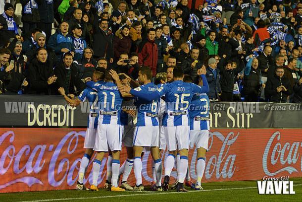 El Lega celebrando un gol | Foto: Gema Gil (Vavel)