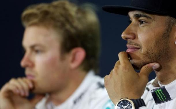 Hamilton was the happier of the two Mercedes drivers after FP1. | Image credit: PA