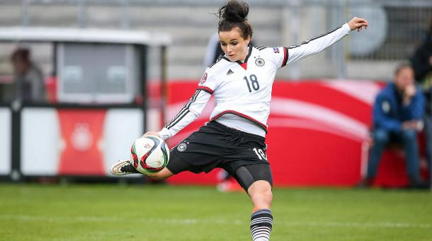 Magull in action for Germany. | Image credit: DFB.de
