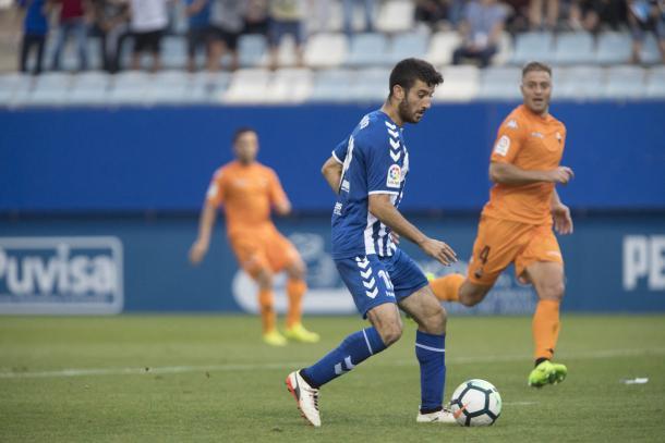 Nando y Olmo en el encuentro de la primera vuelta | Foto: Lorca FC