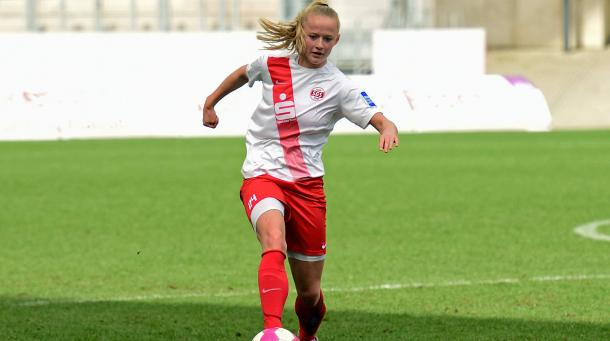 Lea Schüller's fine form has been rewarded with a new deal. | Photo: dfb.de