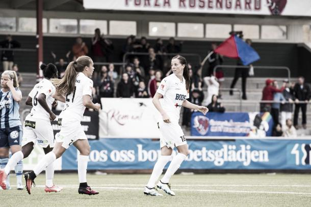 Lotta Schelin joins an already excellent Rosengård side | Source: fcrosengard.se