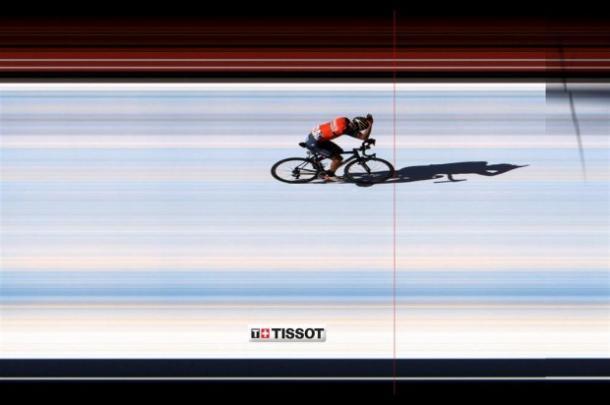 'Lo Squalo' ha cogido margen en los últimos metros | Foto: Vuelta a España