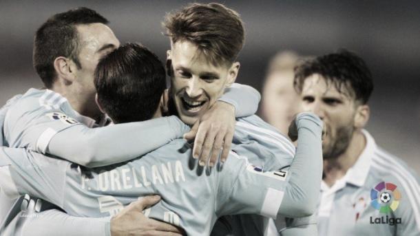 Celta de Vigo celebrando un gol / La Liga BBVA