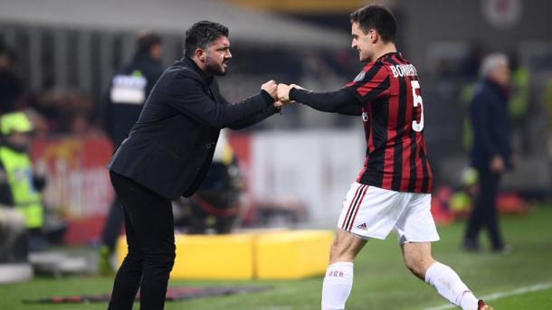 La unión de Gattuso y sus jugadores es evidente | Foto: AC Milan