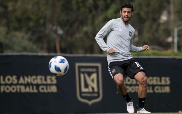 Carlos Vela en el entrenamiento. Fuente: LAFC