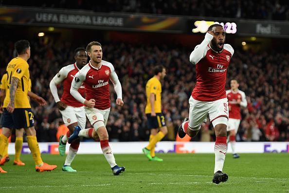 Lacazette abriu o placar para o Arsenal (Foto: Mike Hewitt/Getty Images)
