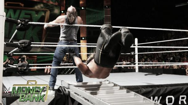 Rollins snapped the ladder. Photo- Youtube.com