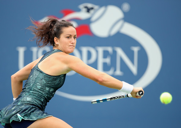 Lara Arruabarrena in action at the US Open | Photo: Matthew Stockman/ North America