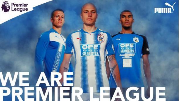 Las nuevas equipaciones del recién ascendido a la Premier | Foto: Huddersfield Town