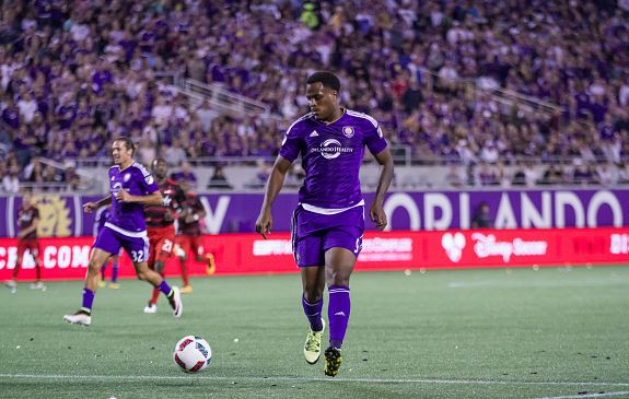 Cyle Larin, in a game against the Portland Timbers, may miss the game against the Philadelphia Union due to injury / Chris McEniry - Overflow Productions, Inc./Getty Images