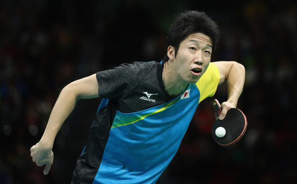 Jun Mizutani of Japan at a match in Rio during the Olympics. Photo Credit: Lars Baron of Getty South America