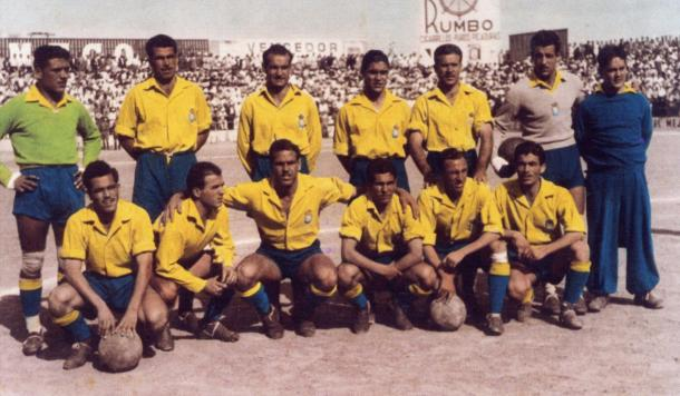 Alineación de Las Palmas en la Promoción de División de Honor, temporada 1950/51 | Fotografía: UD Las Palmas