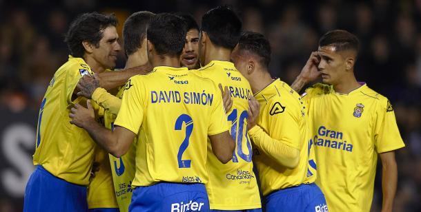 Las Palmas celebra un gol en la temporada 2015/16 | Fotografía: UD Las Palmas