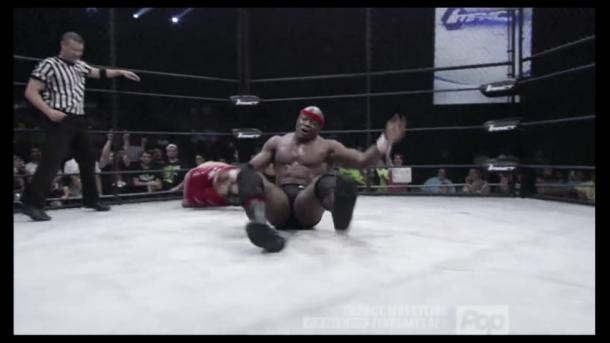Lashley was crowned the new X-Division Champion. Photo- ImpactWrestling