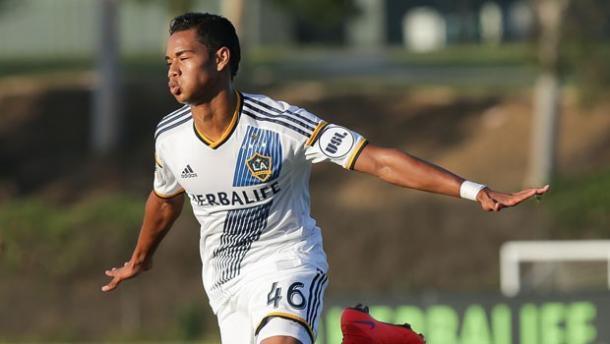 Can Robbie Keane's injury be the break for 21-year-old striker Ariel Lassiter? Photo provided by the LA Galaxy.
