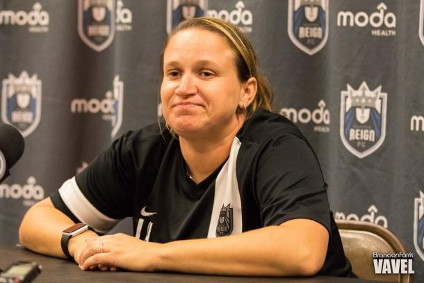 Laura Harvey will lead the Reign once again for another three years   Source: Brandon Farris/VAVEL