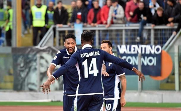 I festeggiamenti durante Lazio-Genoa, sportface.it