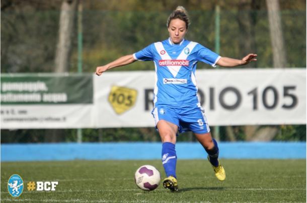 Rosucci in action with Brescia l Photo: Brescia Calcio Femminile