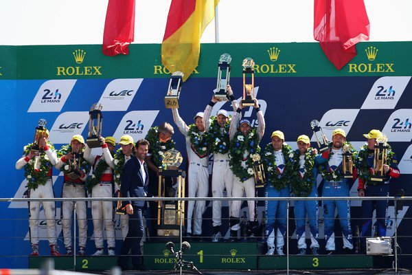 Podio de las 24H de Le Mans 2017 | Foto: Getty Images