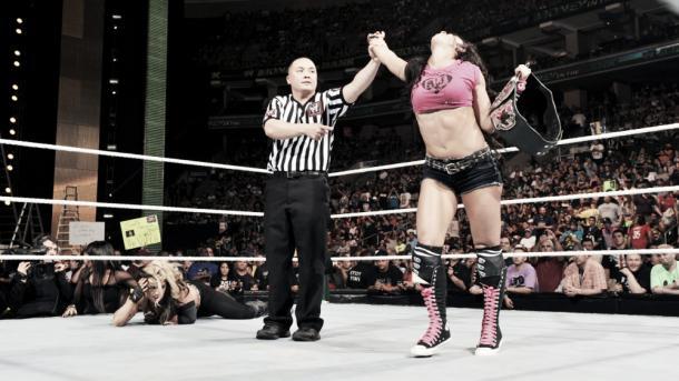 It was an impressive performance from AJ Lee. Photo- www.fanpop.com