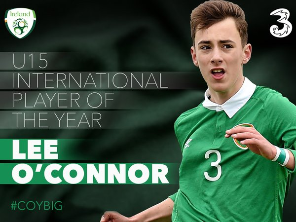 O'Connor was voted U15 Ireland International POTY | Photo: Twitter
