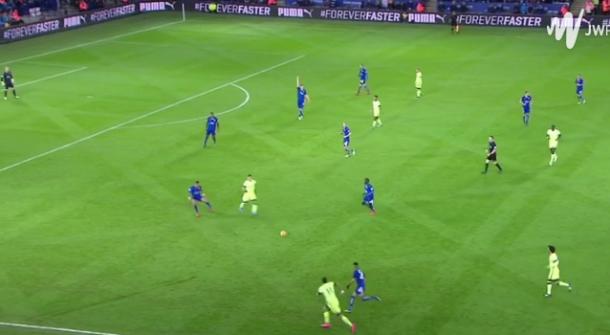 Disposición defensiva del Leicester   WF