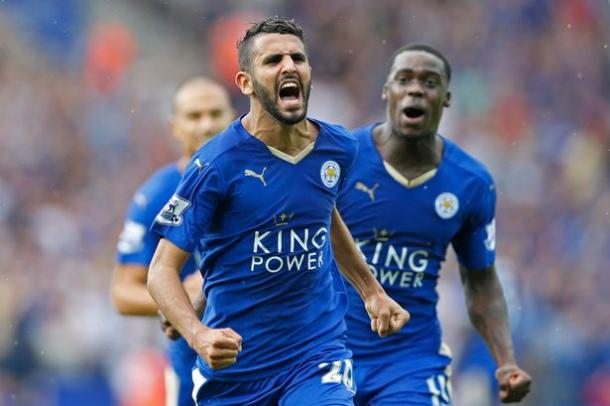 Riyad Mahrez and Jeff Schlupp could be key to unlocking the Swans' defence. | Photo: Reuters / Carl Recine