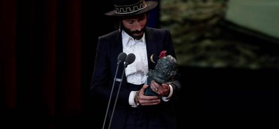 Leiva recibe el Goya por Mejor Cancion Original (Fuente: Web oficial de Leiva)