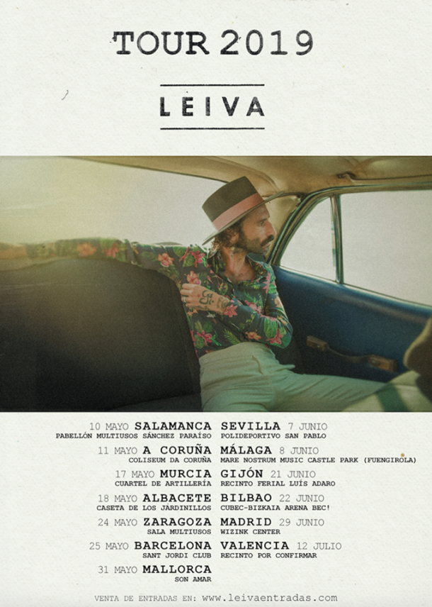 Tour 2019 de Leiva/Fuente: web oficial