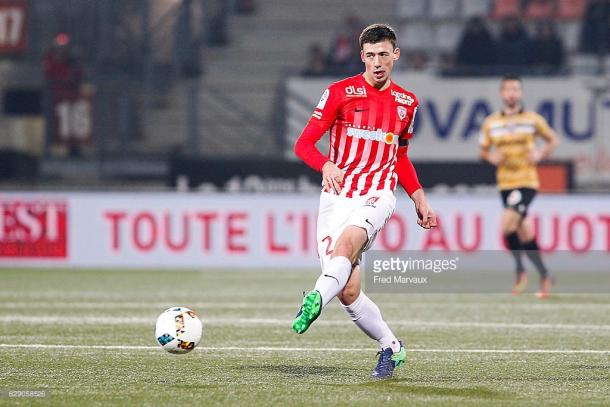Lenglet in action for Nancy during their final home game of 2016. Source - Getty.