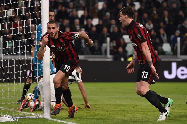 El momento en que Bonucci celebra el gol ante la afición de la Juventus. Foto: zimbio