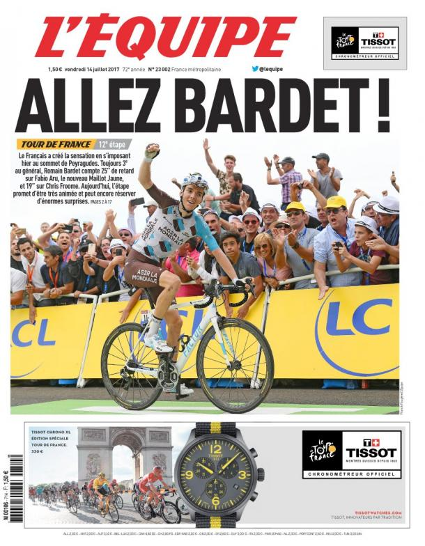 El ciclismo francés confía en las posibilidades de Bardet. | Imagen: L'Equipe