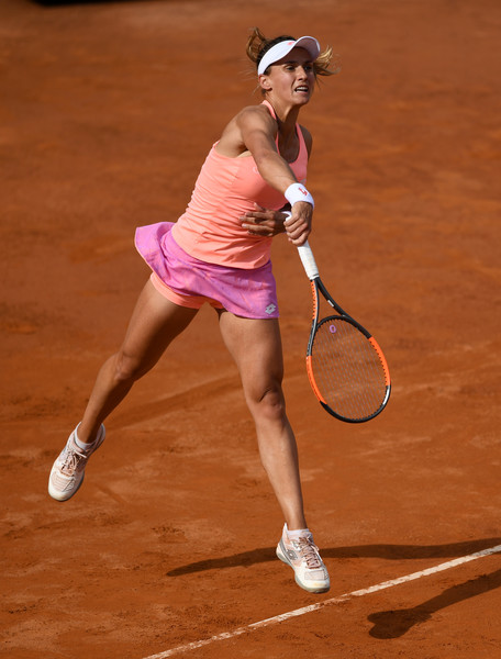 Lesia Tsurenko in action at the Internazionali BNL D'Italia | Photo: Gareth Copley/Getty Images Europe