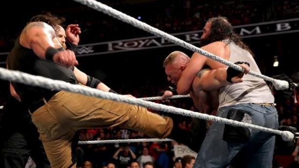 Lesnar was ambushed by the Wyatt's. Photo:WWE.com
