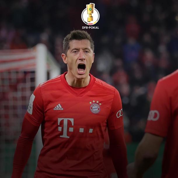 Lewandowski quiere ser el máximo goleador de la DFB Pokal / Foto: @DFB_Pokal