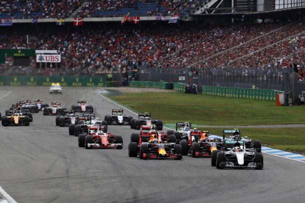 Salida del GP de Alemania   Fuente: Getty Images
