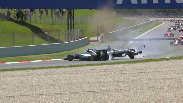 Hamilton y Rosberg, España 2016. Foto: Youtube