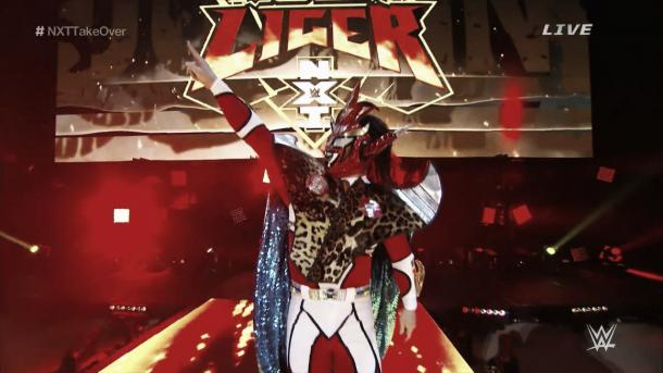 Liger's NXT debut was made a huge deal. Photo-snapthirty.com