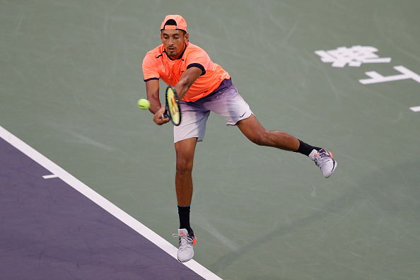 Nick Kyrgios in action during the Shanghai Rolex Masters earlier this year (Getty/Lintao Zhang)