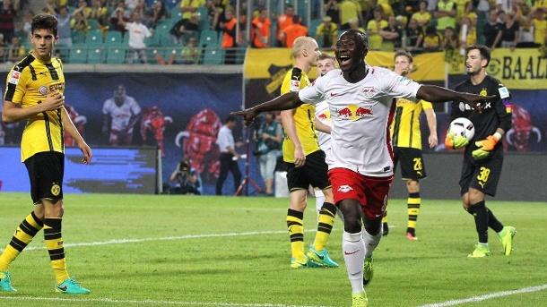 La gioia di Keita dopo la rete al Dortmund, t-online.de