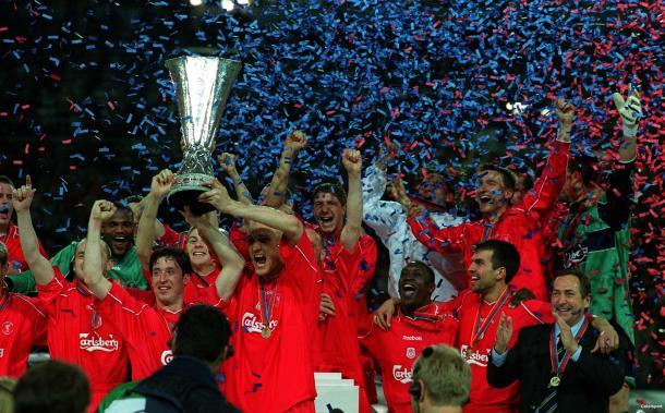 Il Liverpool, vincitore nel 2001. Fonte: Reuters.