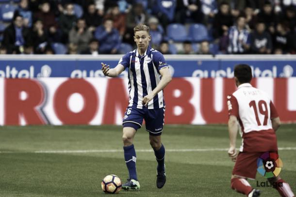 Marcos Llorente hizo, contra el Espanyol, el mejor partido de su corta carrera en Primera División. Imagen: www.laliga.es