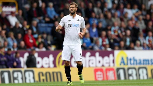 Llorente opened his account for the Swans this afternoon, but couldn't prevent them falling to a 3-1 defeat / Sky Sports
