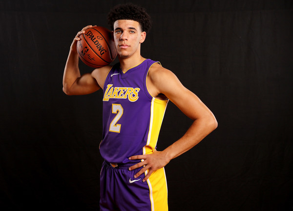Lonzo Ball may be a rookie but he outclasses a lot of players. Photo: Elsa/Getty Images North America