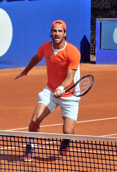 Feliciano Lopez attacks the net during his win. Photo: Europa Press/Europa Press via Getty Images